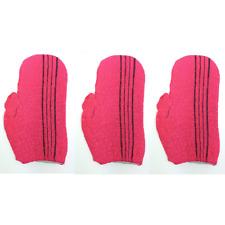 Italy Towel 3Pcs Bath Massage Gloves Exfoliating Body Scrub Cloth Made in Korea