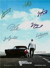 Fast & Furious 6Poster signed:Vin Diesel,Gal GadotAND Paul Walkercomes w/COA