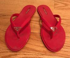 Prada Rubber Flip Flops Thongs Flats Shoes. Pink. Size 8.