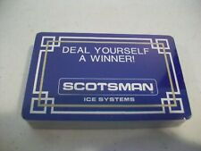 Vintage Deck Playing Cards - Scotsman Ice Systems - Advertising Deck - Sealed