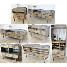 Retro Industrial Storage Cabinets TV Display Coffee Table Cupboard Furniture