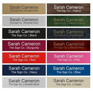 """Personalized Name Plate Sign for Office Desk or Door 2"""" X 8"""" - Customized"""