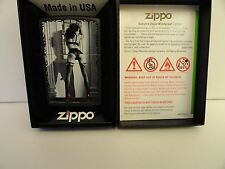 New Zippo Pin-up Sexy Girl #12 Red Shoe Series Black Matte Lighter Sealed 2012