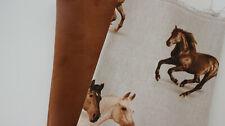 Stoffpaket, Taschenstoff Wildleterimitat braun + Canvas Pferd 2 x 50 x 140 cm