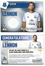 Topps Premier Club 2016 Everton Aaron Lennon Player Worn Shirt Card 128/265