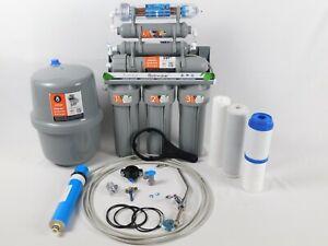 8 Stufen Umkehrosmose Anlage Wasserfilter Hochleistungsmembran 100GPD