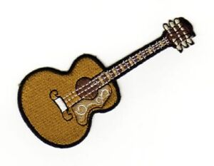 Ae95 Acoustic Guitar Sew-On Application Patch 3 7/8x1 1/2in