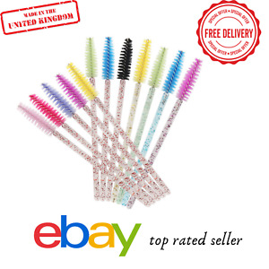 GLITTER Eyelash Brush Wands Kit Lash Extension Wand Mascara Spoolie Applicator
