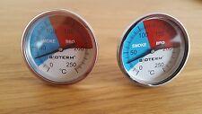 2x BBQ Thermometer Räucherthermometer Smoker  Räucherofen Edelstahl Grill