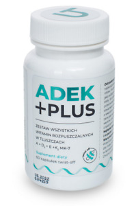 Visanto ADEK Plus TWIST OFF 60 capsules Jerzy Zięba, FREE P&P