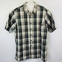 Dickies Button Front Shirt Short Sleeved Men's Size XL Plaid
