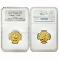 Australia 1986 Nugget Hand of Faith $50 1/2 oz Gold NGC PF68 ULTRA CAMEO