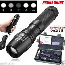 5000Lumen X800 CREE T6 LED Torch shadowhawk Nylon Pouch 18650 Flashlight Box Set