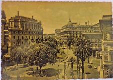 Vintage 1955 Postcard of Vittorio Veneto Street Rome Black and white True Photo
