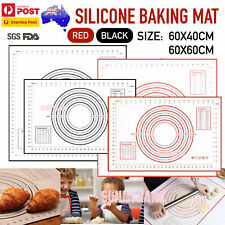L/XL Size Silicone Rolling Cake Dough Mat Pastry Clay Fondant Baking 60X60/40cm