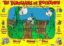 Vintage Reprint - 1960S - Dinosaurs Of Rocktown Paper Dolls Book