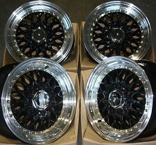"15 ""NERO RS Ruote in Lega Adatta BMW MINI R50 R52 R55 R56 R57 R58 R59 4x100"