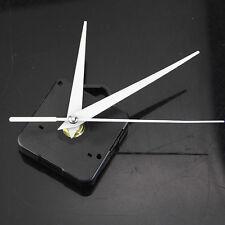 Quiet Silent Quartz Clock Movement White Hands Mechanism Parts Repair Kit  UKGRL