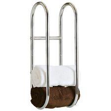 Wall Mounted Chrome Towel Rack Rail Holder Bathroom Accessory Kitchen Shelf