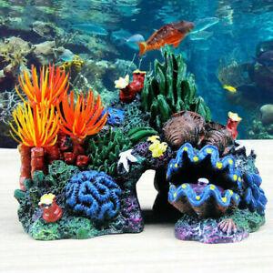 Aquarium Deko Korallenriff Koralle Dekoration Korallen Riff Stein Schale DIY