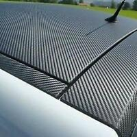 3D Carbon Fiber Fibre Vinyl Wrap Film Sheet Decal Sticker Phone Laptop Car