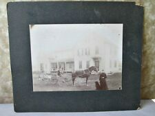"Vintage Photograph EARLY HOMESTEAD,Horse & Buggy,C.1900, 6 1/8"" x 8 1/4"""