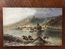 Kaub, Burg Gutenfels And Pfalz Vintage German  Postcard Postkarte vom Rhein