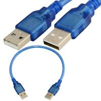 50cm USB 2.0 A Male to USB 2.0 A Male Sync Data Charge Short Cable Cord Adapter
