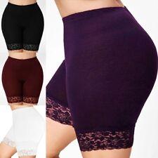 New Plus Size Womens Ladies High Waist Boxer Pants Lace Shorts Soft Underwear
