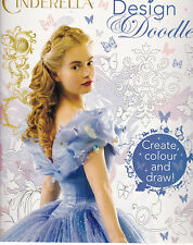 Disney Cinderella Design & Doodle Colouring Book - Art Therapy - New Book