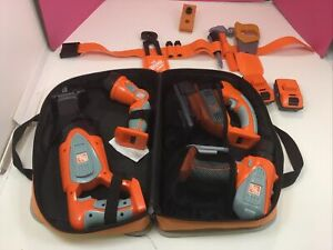 Home Depot Kids Toy Tool Bag  Drill, Jigsaw, Flashlight & Sawsall, Tool Belt