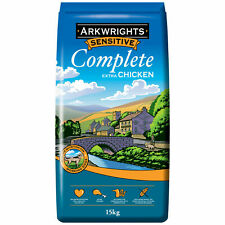 More details for arkwrights sensitive complete dry dog food with chicken bulk 15kg bbe 01/22