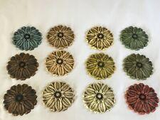 12 Decorative Flower Resin Applique Furniture Moulding Onlay Shabby Chic VINTAGE