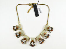 NWT J.Crew Crystal and stone row necklace