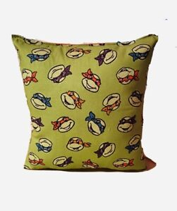 TMNT Pillow Teenage Mutant Ninja Turtles Pillow Turtle Heads Handmade in USA
