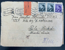 1944 Prague BM Germany to Arbeitslager Slave Labor Prison Cover locally used