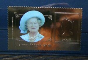 Maldives 2000 Queen Mother Birthday Gold Foil Issue MNH