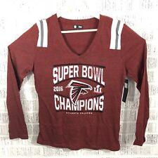 NEW Uncirculated Atlanta Falcons Super Bowl Champions NFL Womens LS shirt L  Red 1961b535b