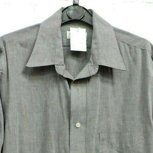 "Van Heusen Grey Long Sleeve Formal Shirt Size 15.5"" Collar #CE GA-1940"