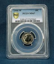 1996-W ROOSEVELT DIME PCGS MS67
