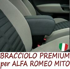 Bracciolo Premium per ALFA ROMEO MITO (2008-2013)-MADE IN ITALY-appoggiagomito @