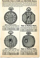1927 small Print Ad of Elgin & Waltham Pocket Watches