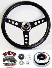 """1969-1987 El Camino steering wheel CLASSIC BOWTIE CLASSIC BLACK 13 1/2"""""""