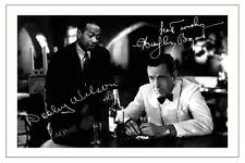 DOOLEY WILSON & HUMPHREY BOGART SIGNED PHOTO PRINT AUTOGRAPH CASABLANCA