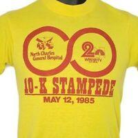 10K Stampede Run T Shirt Vintage 80s 1985 Baltimore Race Made In USA Size Medium