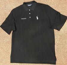 Ralph Lauren Marquis Netjets Cotton Polo Golf Tour Logo Horse Black  MINT  XXL