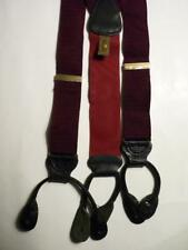 TRAFALGAR BURGUNDY LIZARD LEATHER SUSPENDERS BRACES