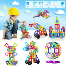 Kids Building Toys 133 Pcs Magnetic Tiles Blocks Sets Gift For Age 2 3 4 5 6 7 8