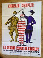 CHARLIE CHAPLIN Grande revue de charlot original LARGE french movie poster 70s