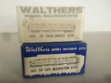 WALTHERS Wood Metal ATSF Santa Fe Heavyweight Passenger  2 Car Set  Kit  NR !!